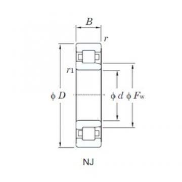 110 mm x 200 mm x 38 mm  110 mm x 200 mm x 38 mm  KOYO NJ222 cylindrical roller bearings